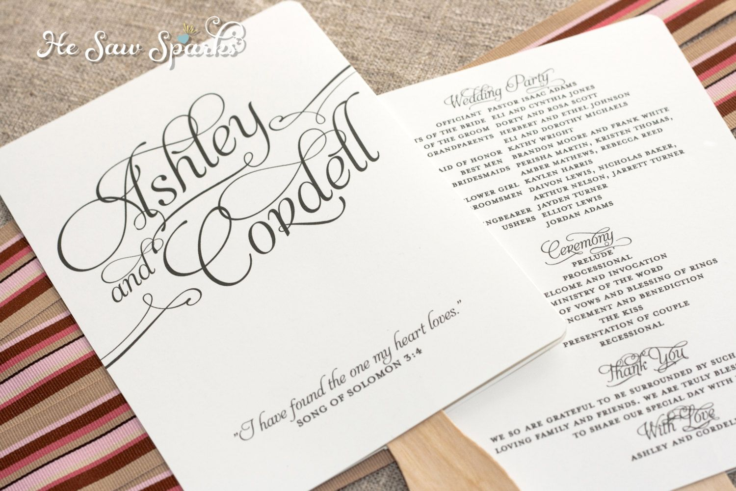 Free Printable Wedding Programs Templates Request A Custom Order - Wedding invitation templates: wedding program template word