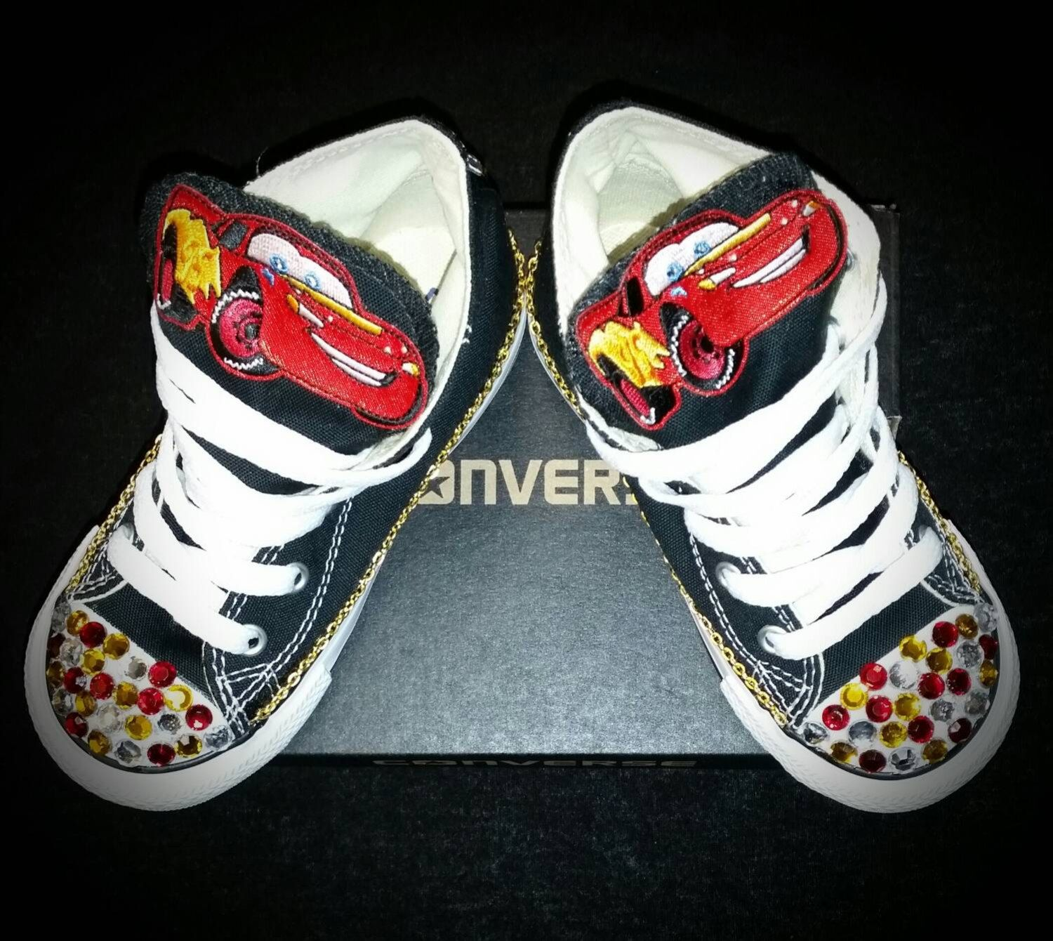 f69a4373c71a58 Cars Custom Converse- Boys- Infant- Baby- Toddler- Big Kid- Any Character