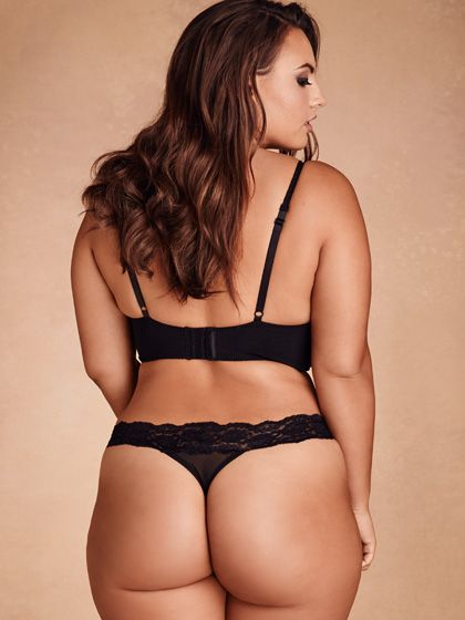 plus size lace trim mesh thong, black | plus size | pinterest
