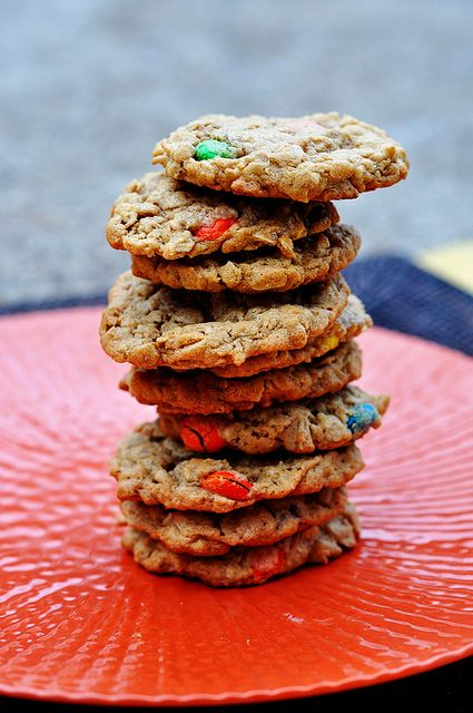 Monster Cookies... what to do with leftover M&Ms.