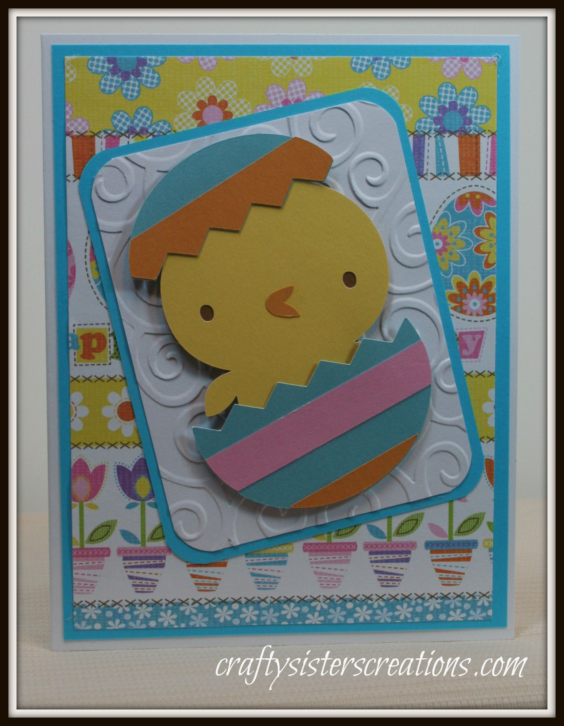 Cute Easter card for a child using Create a Critter 2 Cricut – Easter Cards for Children