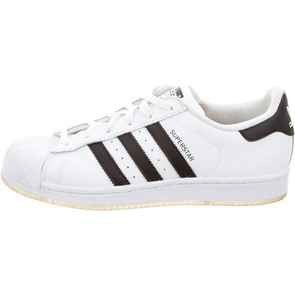 new concept 73e27 9cfd3 Pre-owned Adidas Superstar Low-Top Sneakers (310 HRK) ❤ liked on Polyvore  featuring shoes, sneakers, white, white lace up shoes, white shoes, white  low ...