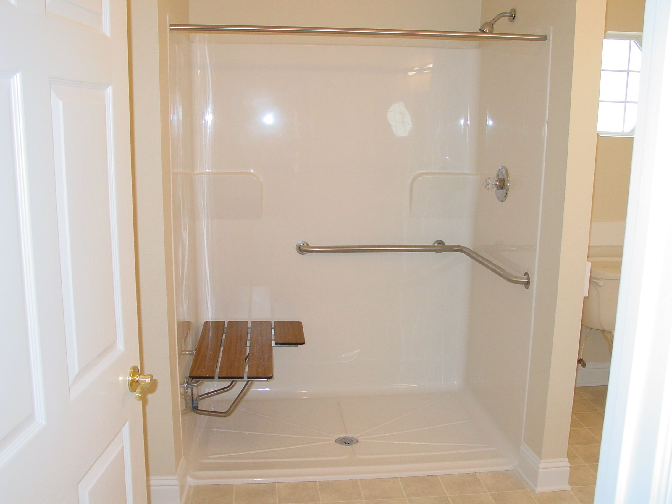 Handicap shower Accessible bathroom design, Handicap