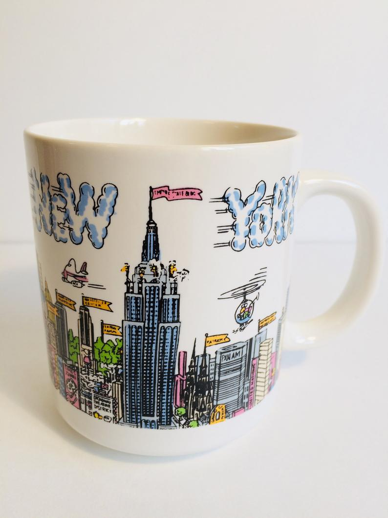 New York Mug New York Landmark Coffee Cup |