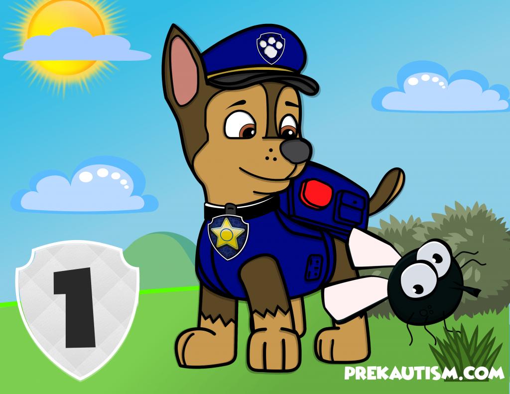 Free Paw Patrol Counting Mats