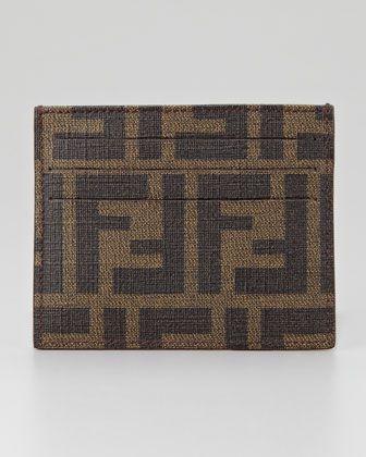 Fendi Men s Logo Credit Card Case, Tobacco - Neiman Marcus Men Gifts, Gifts  For ed17e688e0