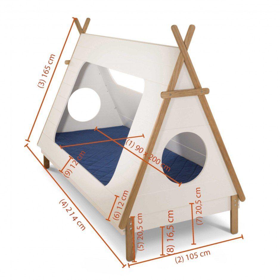 Bett Tipi 90 x 200 cm DIY в 2019 г. Кровать для малыша