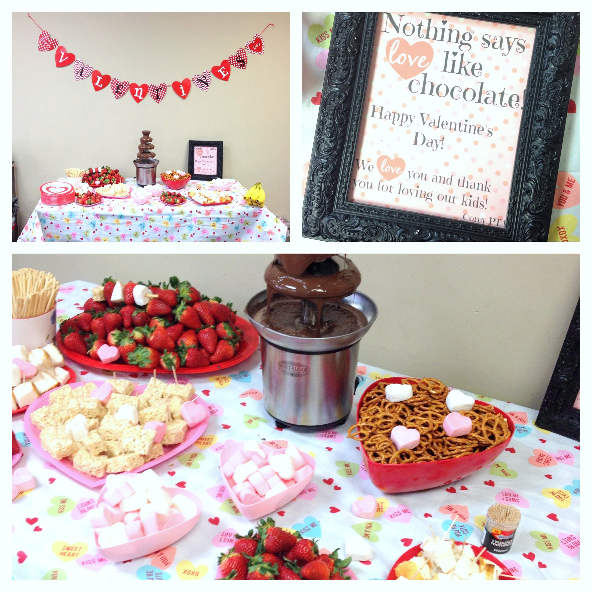 Teacher Appreciation  Valentines Chocolate Fountain