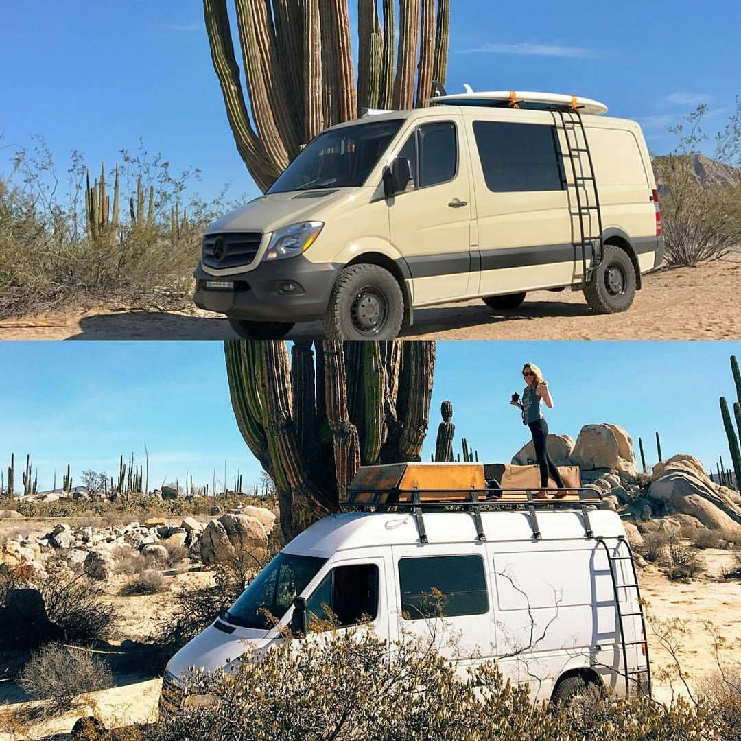 Time for sunny pics from those advanturing in baja thanks to and for pics of their sprinters with aluminess gear