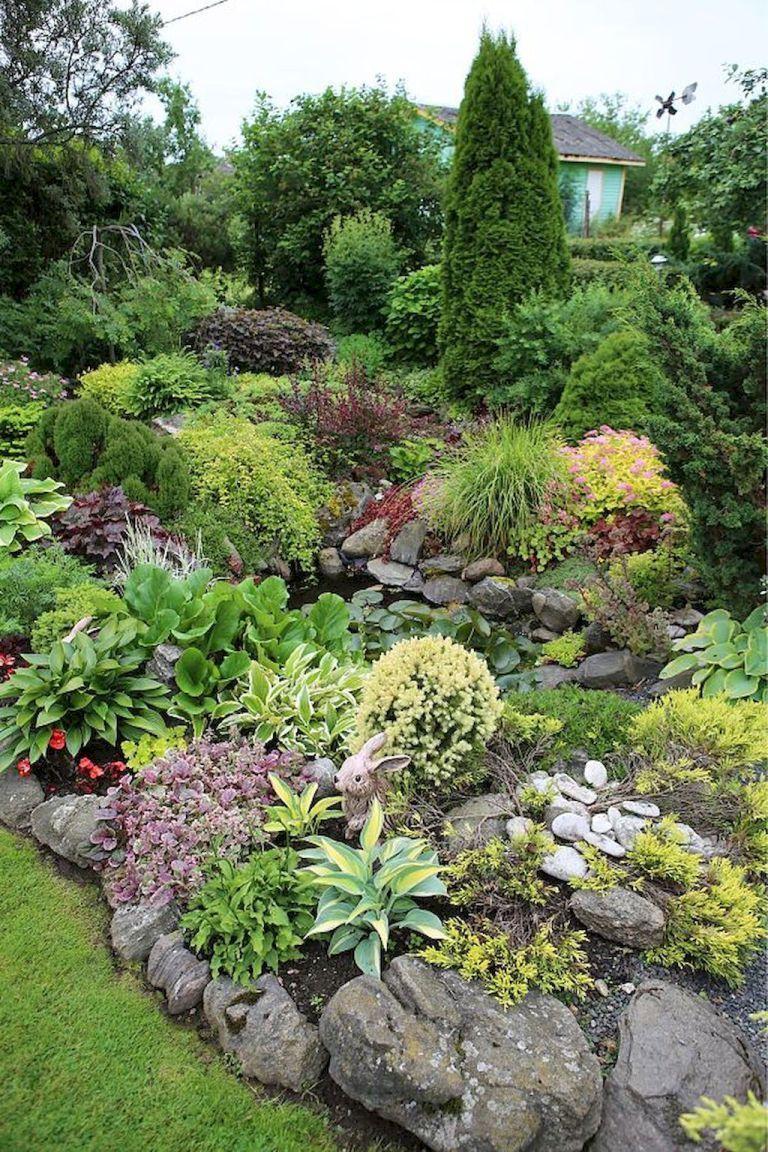 front yard rock garden landscaping