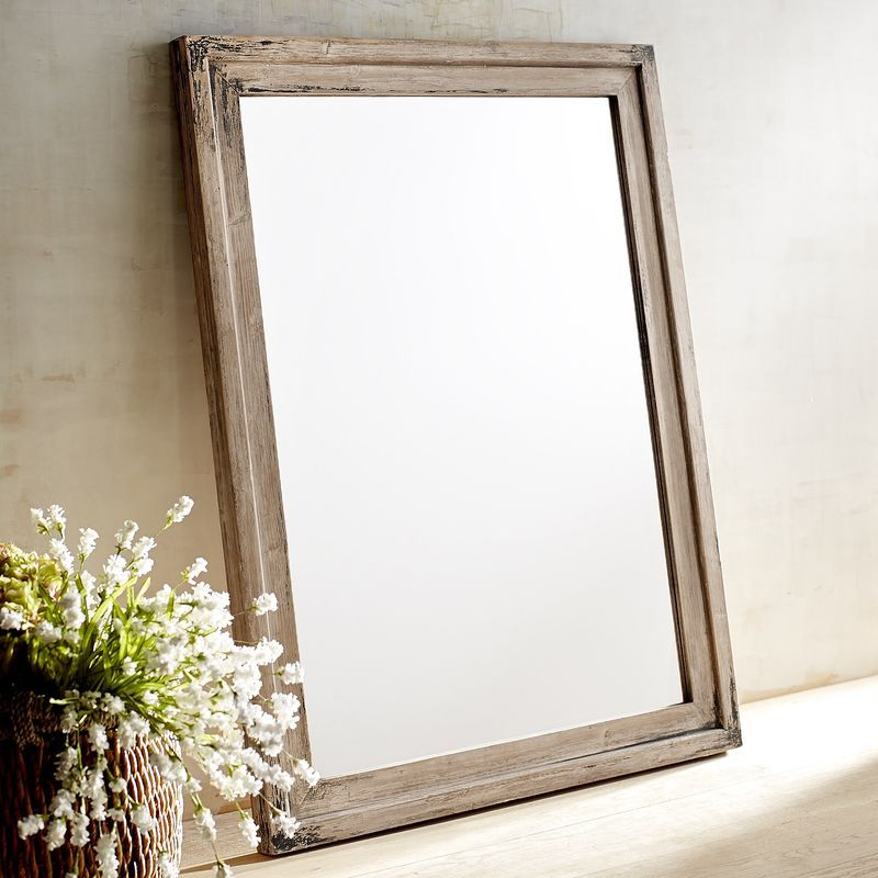 Ville Whitewashed Wood Framed Mirror Pier 1 Imports Wood Framed Mirror Whitewash Wood Farmhouse Wall Decor