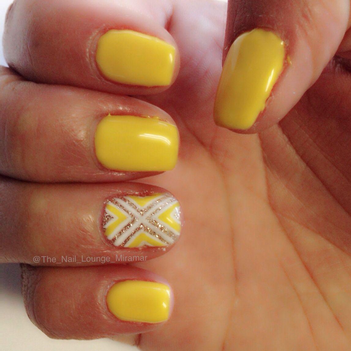 Pin By The Nail Lounge On Nail Art Yellow Nails Yellow Nail Art Yellow Nails Design