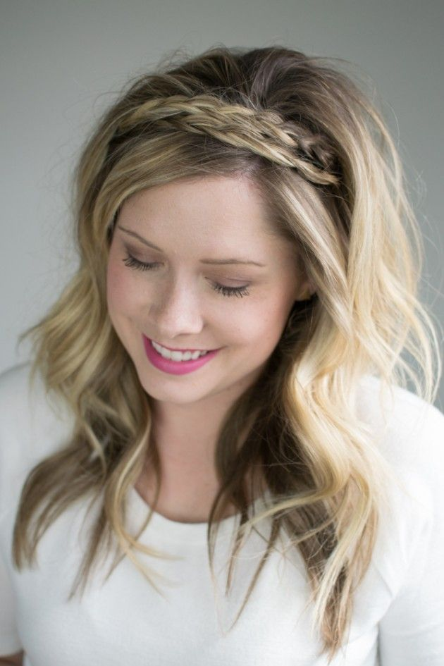 The Double Braided Headband 2 Ways To Style It Braided Headband Hairstyle Headband Hairstyles Hair Styles