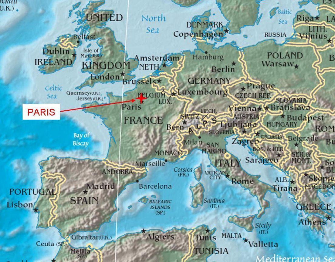 Map Of France Paris France Pinterest Paris France And France - France on map