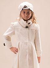 Girls Cream Winter Coat - 'Georgia'