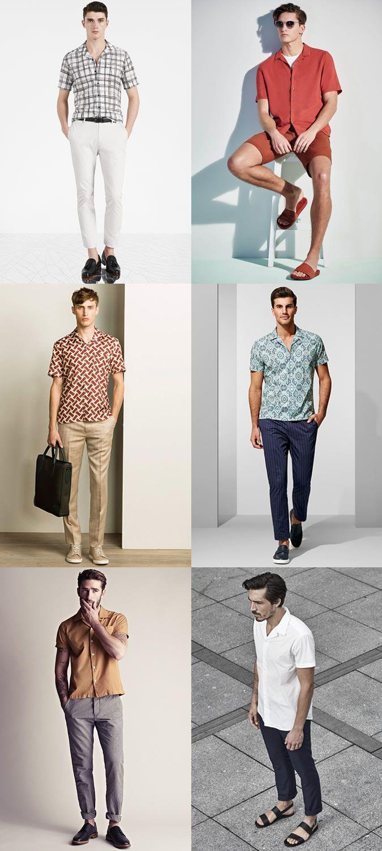 Men's Short-Sleeved Cuban Collar Shirt Outfit Inspiration ...