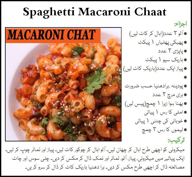 Spaghetti Macaroni Chaat Ramadan Iftar Recipes In Urdu