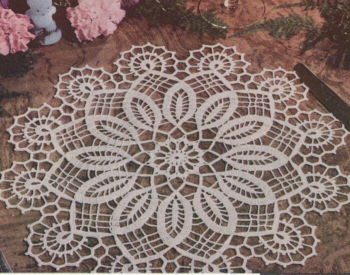 Vintage Crochet Pattern Easter Doily Centerpiece Mat Crochet