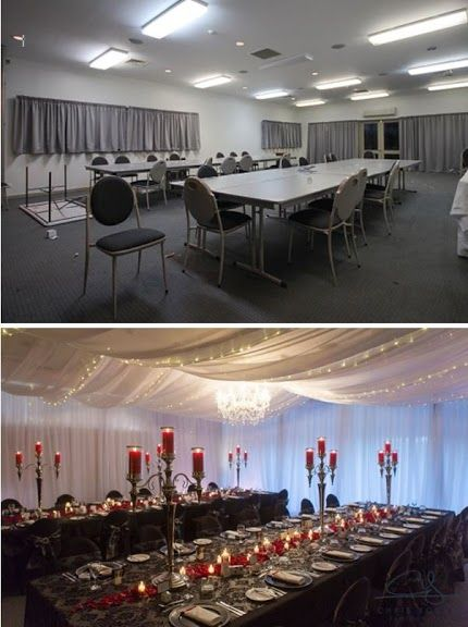 Wedding Reception Venue Before And After Table Decorations Ideas Tamar