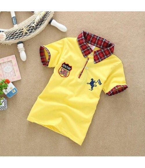 173e584e6a Camisa Polo com manga e gola xadrez