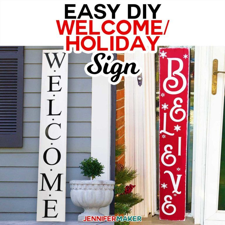 Easy Vertical Welcome Sign Reversible