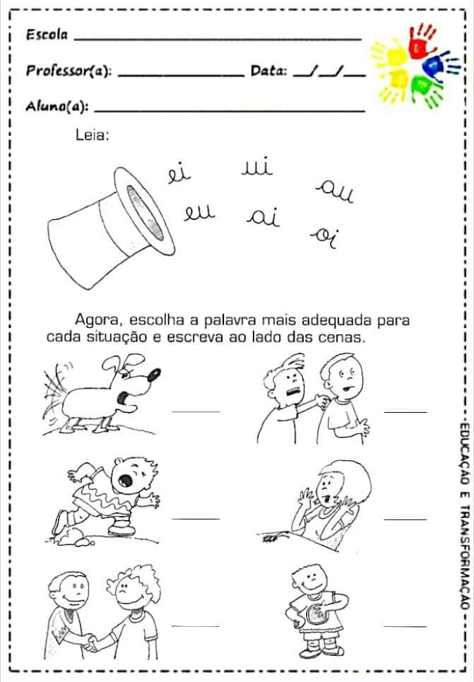 Trabalhos Com Imagens Atividades Alfabetizacao E Letramento