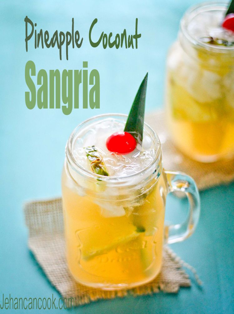 PINEAPPLE COCONUT SANGRIA