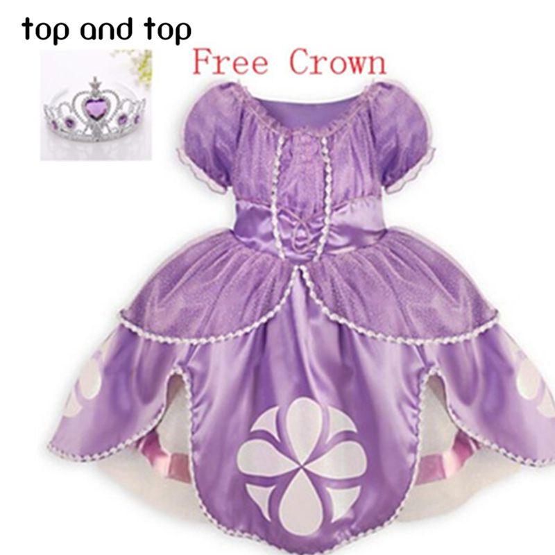 Princess sofia dress costume vestido princess sofia princesinha ...