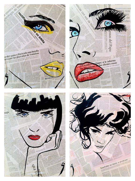 """Saatchi Online Artist: Conrad Jones; Paint 2013 Collage """"Fashion"""" – almost licht…"""