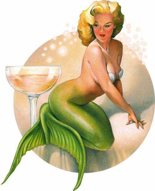 thatgirlupstairs:  Mermaid Pinup by *gaborart  lovvve this!!!
