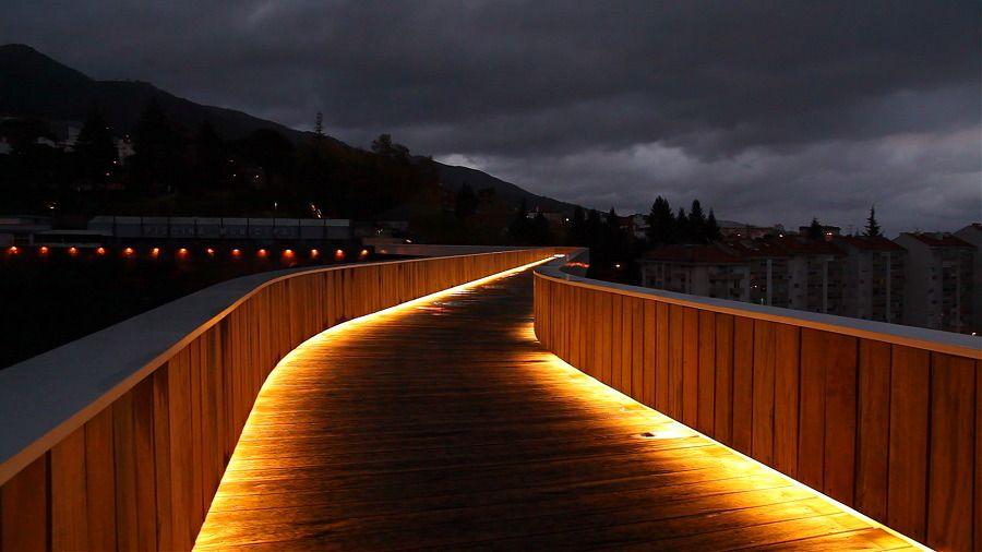 Pedestrian Bridge by JLCG Arquitectos (Portugal)