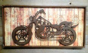 Harley Davidson Wall Art | ... Metal Harley Davidson Honda