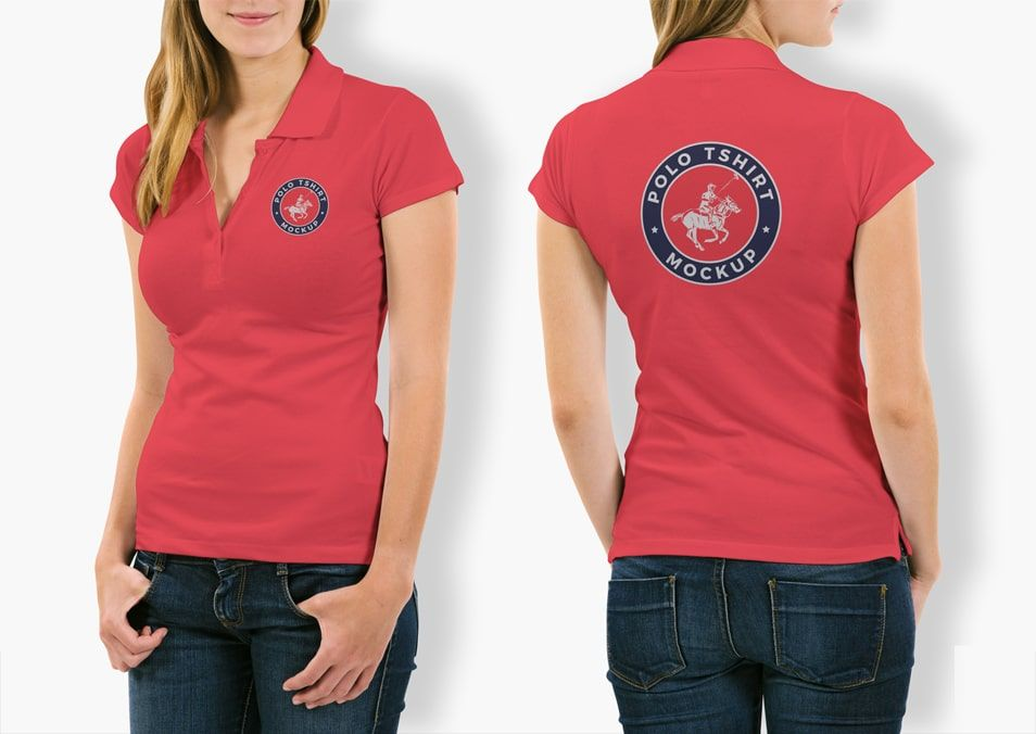Download Woman Polo Shirt Mockup Psd Free Download