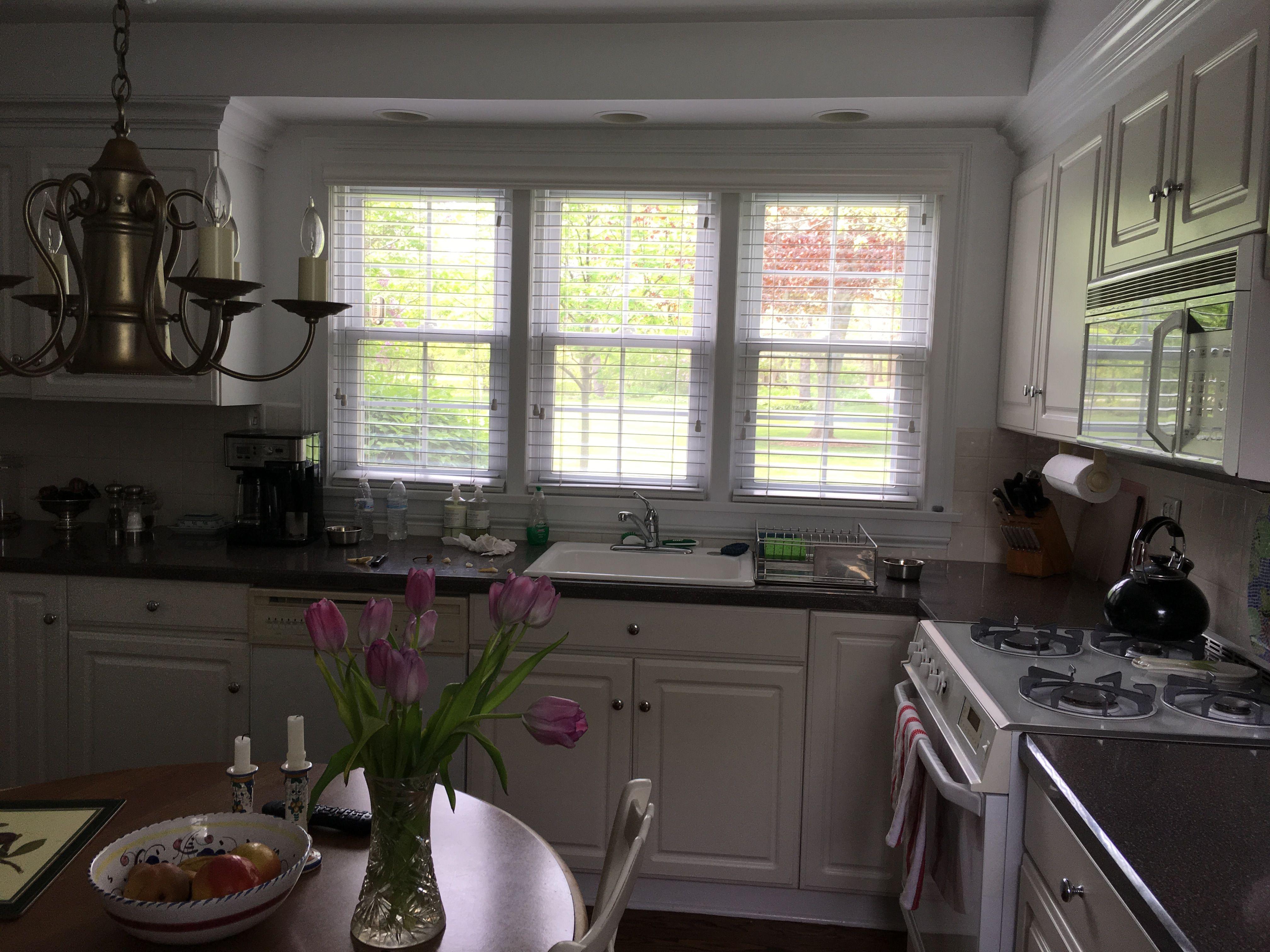Corner window kitchen sink  pin by lesley brandt on  kitchen  pinterest