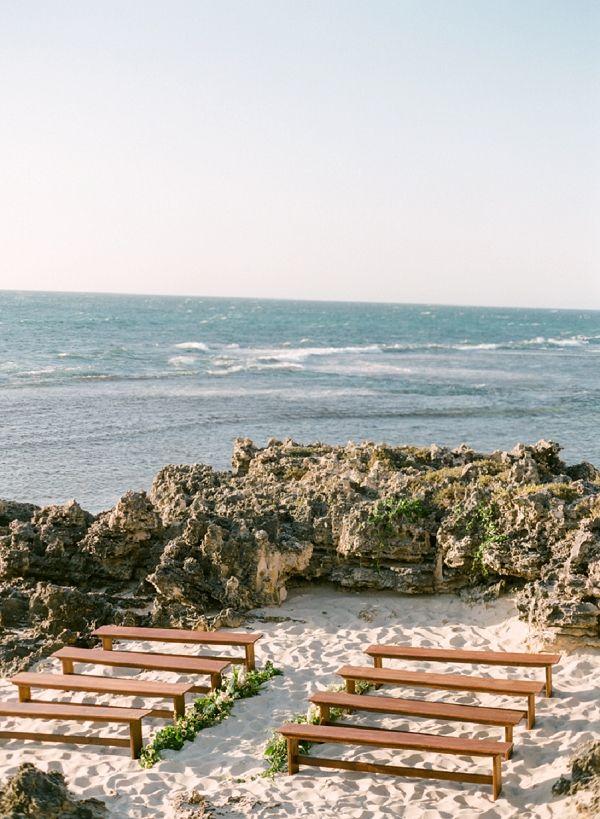 Beach Wedding Set Up In Australia Organic Coastal Inspiration By Connie Whitlock Photography