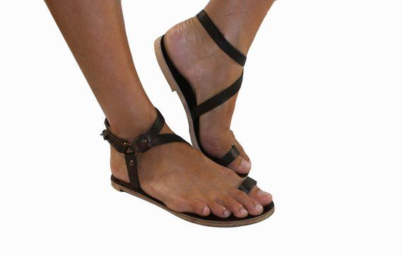 e40060e5a Brown Julie Leather Sandals for Women   Men - Handmade Leather Sandals