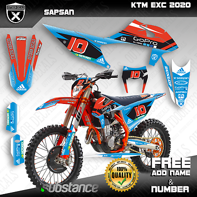 Advertisement Ebay Ktm Exc Exc F Xc W Xcf W 125 150 250 300 350 500 Graphics Kit Stickers 2020 Oem Motos Enduro Motos