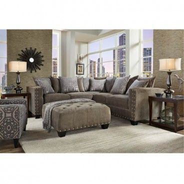 Dynasty Truffle 2 Piece Sectional Sectional Living Room Sets