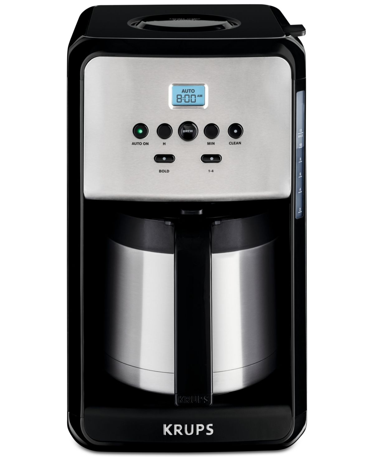 Krups Et351050 12 Cup Savoy Programmable Thermal Coffee Maker Reviews Coffee Makers Kitchen Macy S Thermal Coffee Maker Coffee Maker Machine Coffee Maker