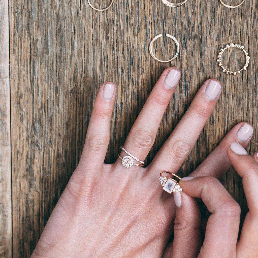 Pink Morganite & Diamond Princess Royal Ring   Just Married ...