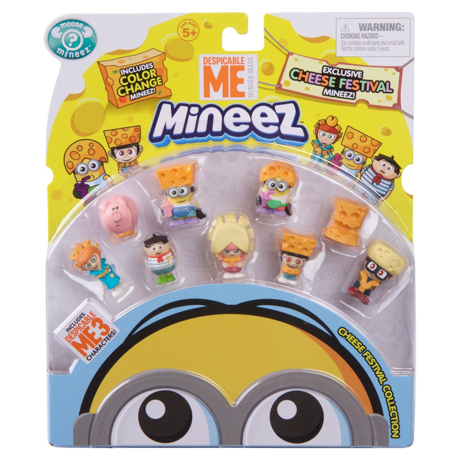 The Minions have become Mineez but these Cheese Festival Mineez have a  cheesy color change surprise. Drop them in icy cold water and see their  cheese turn ... 18d08e8599bf