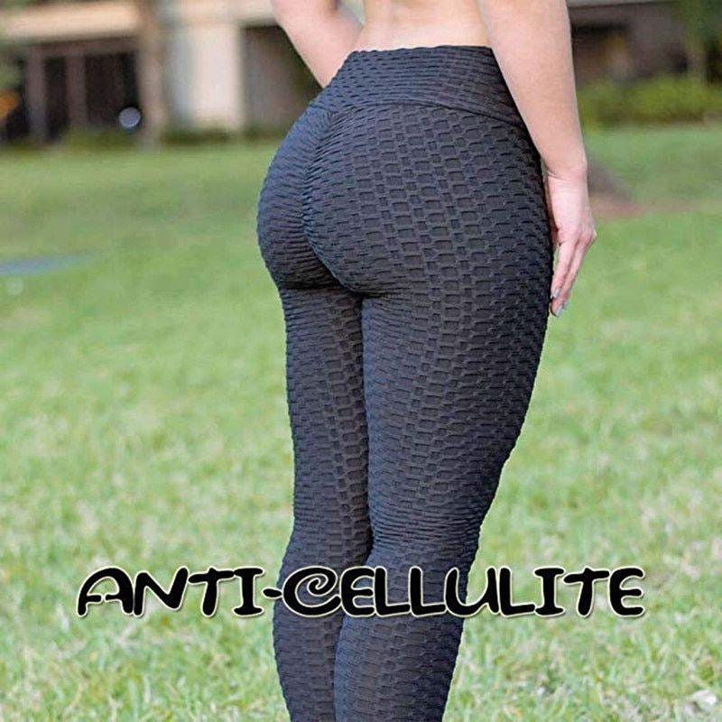 Women Anti-Cellulite Yoga Pants High Waist Leggings Brazilian Sports Booty Gym D
