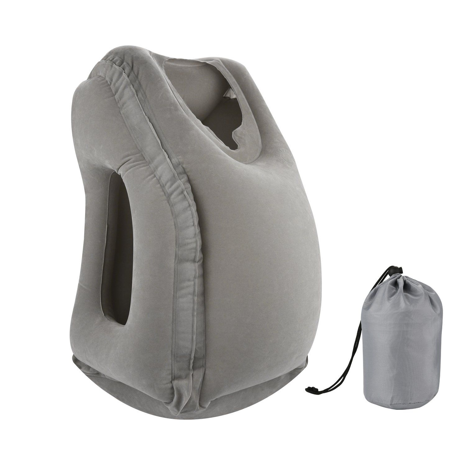 Simptech inflatable travel pillow ergonomic and portable head neck