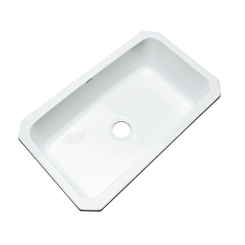 Thermocast Manhattan Undermount Acrylic 33x19 5x9 0 Hole Single Bowl