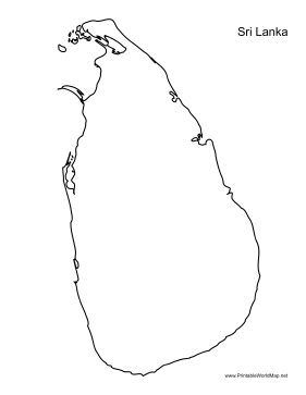 This printable outline map of Sri Lanka is useful for school ...