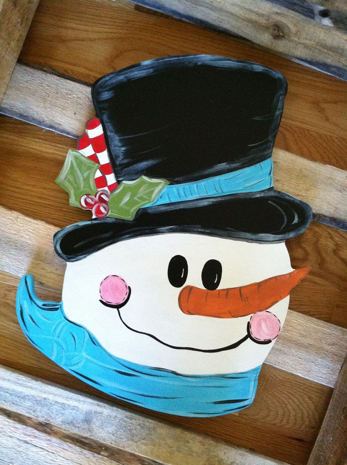 Frosty The Snowman Door Decoration 28 00 Via Etsy Christmas