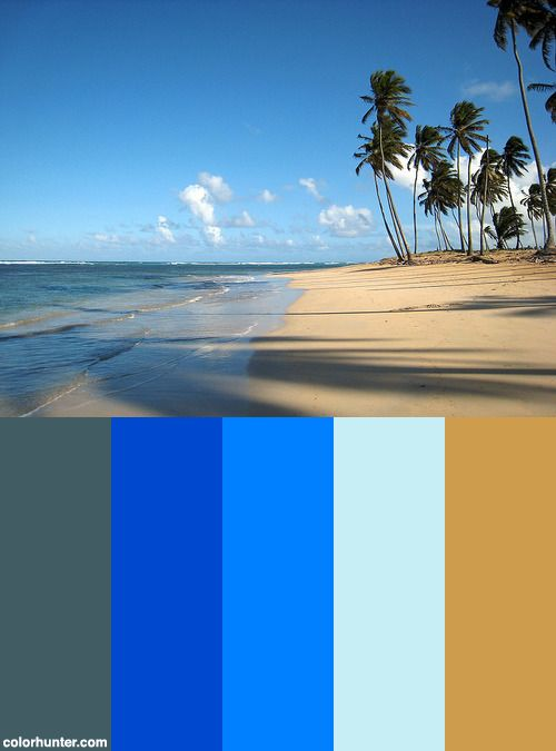 Punta Cana Beach Color Scheme from colorhunter.com