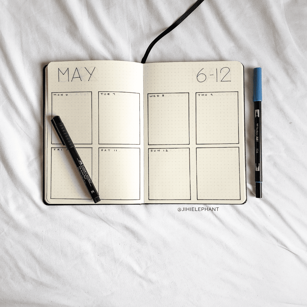 Kara S Red And Blue Bullet Journals Bullet Journal Inspiration