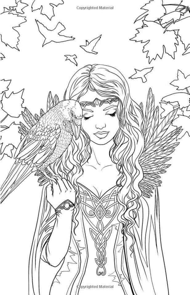 Elf Coloring Pages For Adults Free Printable 9984 In 2020 Fairy Coloring Pages Fairy Coloring Coloring Pages