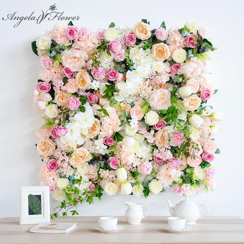 Pas Cher 1 M 1 M Artificielle Fleur De Mariage Decoration Fond Mur